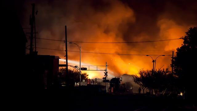 Explosie bij ongeluk goederentrein Canada
