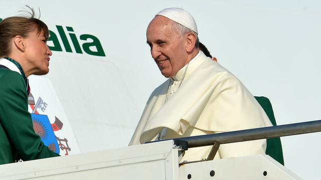 Paus vertrokken naar Brazilië