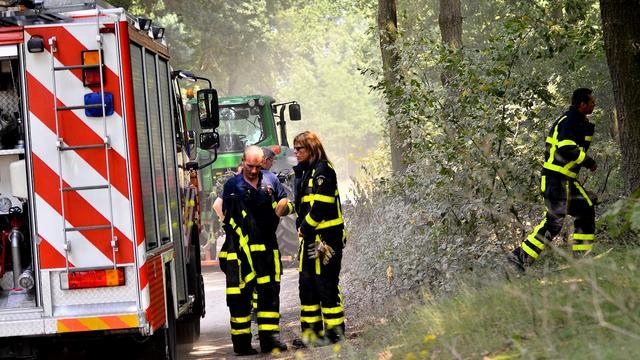 Sint Willebrord opgeschrikt door brand in open veld