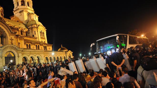 Weer duizenden betogers in Sofia