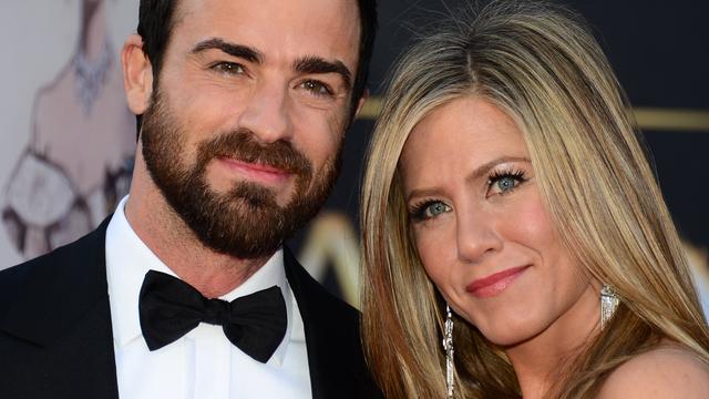 Jennifer Aniston en Justin Theroux nog 'heftig verliefd'
