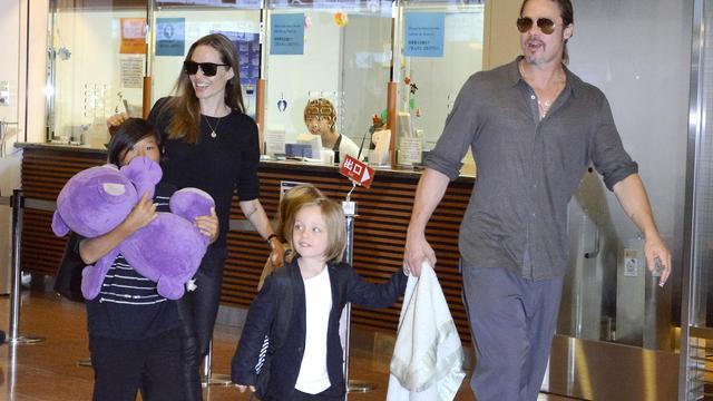 'Brad Pitt ziet kinderen voor het eerst in weken'