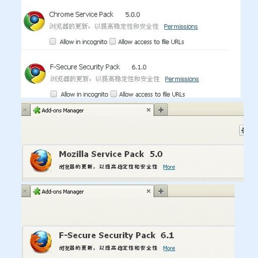 Extensies Chrome en Firefox nemen sociale media over