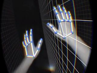 Handbewegingen in virtual reality met Leap Motion