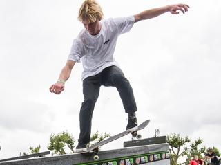 Skatecompetitie in Amsterdam