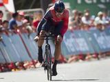 Fabian Cancellara pakte in de laatste 6,7 kilometer nog 5 tellen terug op Martin, maar de Zwitser was op de streep 11 tellen langzamer dan de 'Panzerwagen'.