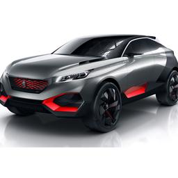 Peugeot Quartz Concept is hybride SUV