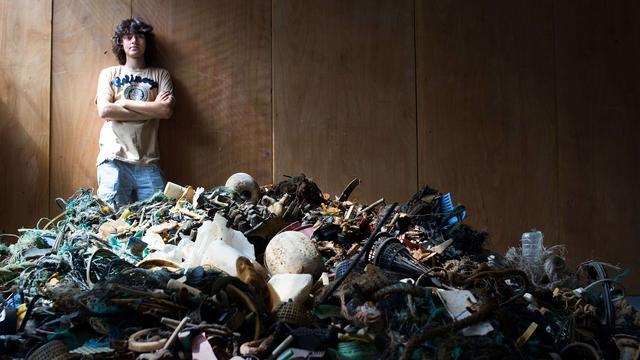 Eerste praktijktest plasticvanger op Noordzee