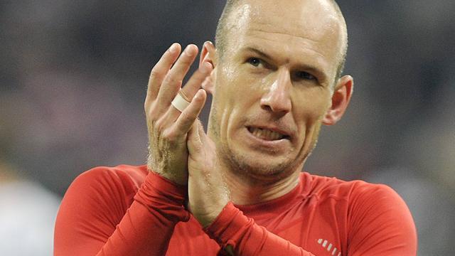 Robben inzetbaar voor Bayern in bekerduel met Hamburger SV