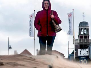 Veel wind op het strand van Noordwijk