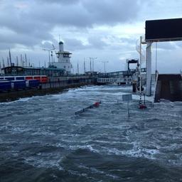 Hoogwater als gevolg van herfststorm