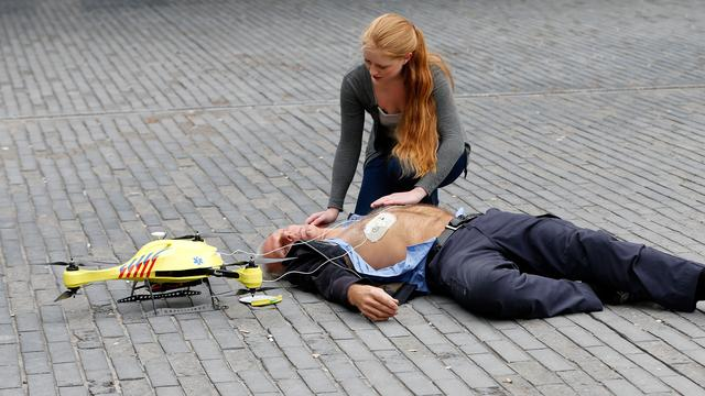 Demonstratie ambulancedrone