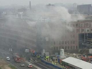 Veel rookontwikkeling door brand in appartementencomplex