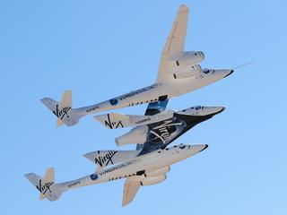 SpaceShipTwo van miljardair Richard Branson was bezig met een testvlucht