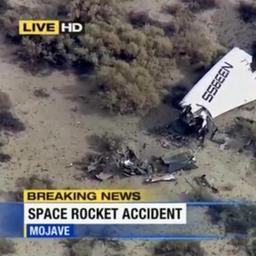 Ruimtevliegtuig van Virgin Galactic neergestort
