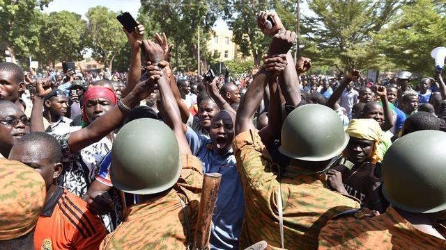 Oppositie Burkina Faso wijst bewind leger af