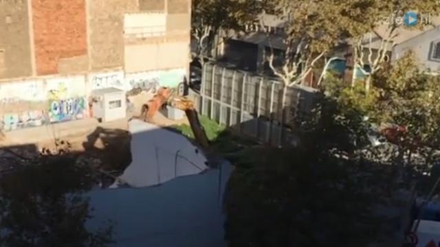 Gesloopt gebouw neemt zoete wraak