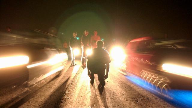 Illegale automeeting beëindigd door politie