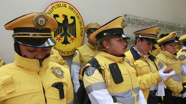 Mexicanen protesteren tegen Duitse wapens