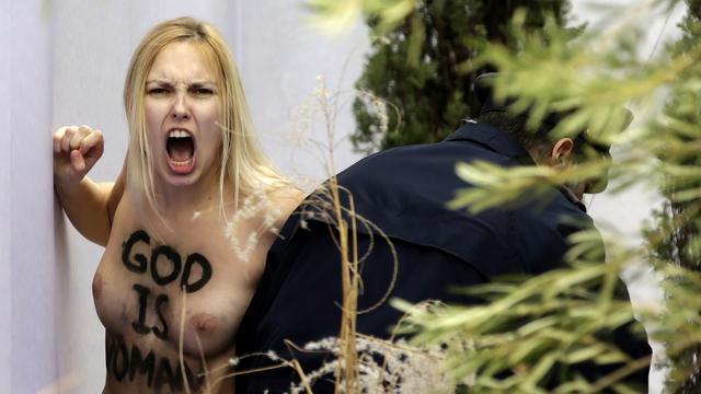 Vaticaan laat Femen-activiste vrij