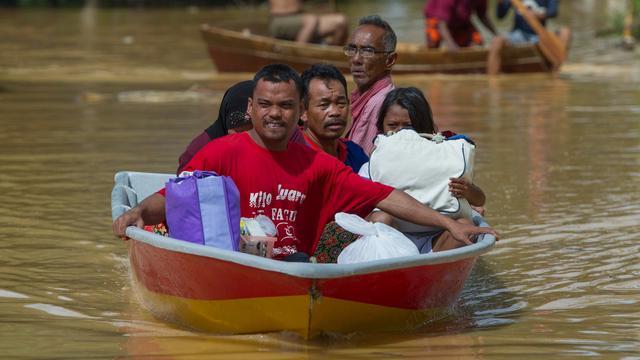 Duizenden evacuaties door zware moessonregen in Zuidoost-Azië