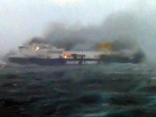 Vier Nederlanders aan boord van stuurloze ferry