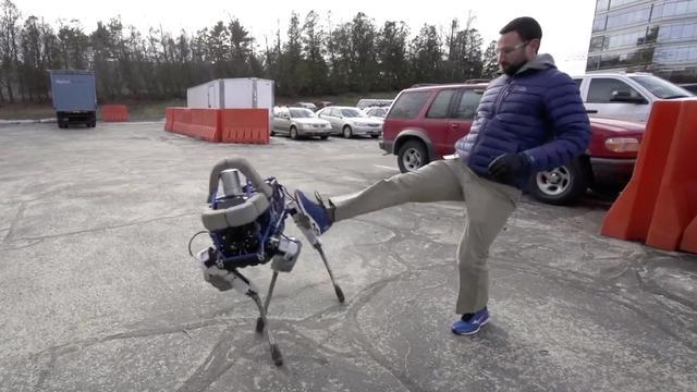 Robotafdeling van Google toont kleine robothond