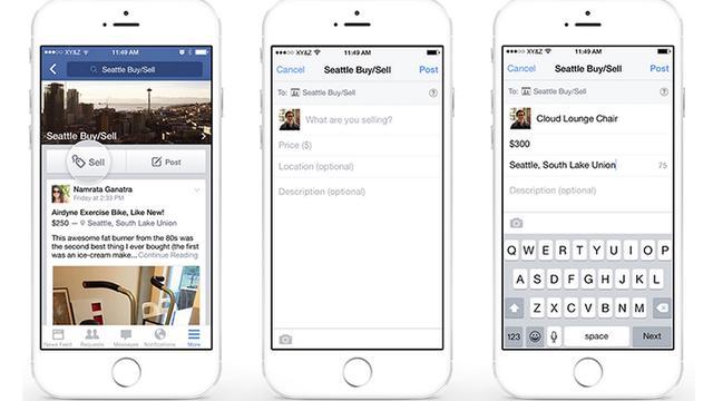 Facebook maakt spullen verkopen in groepen makkelijker