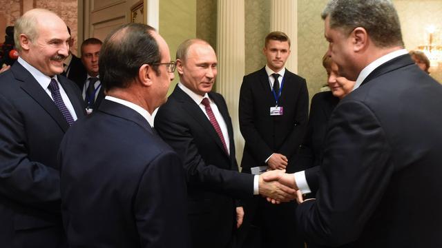 Leiders eens over wapenstilstand in Oekraïne