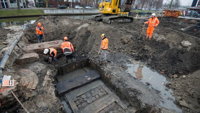 Resten scheepshijskraan gevonden in Utrecht