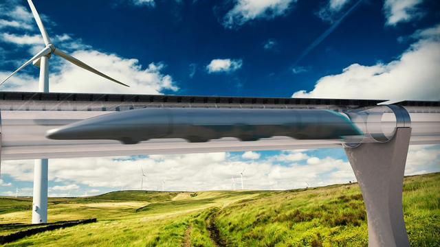 Supersnelle Hyperloop-trein gaat naar de beurs