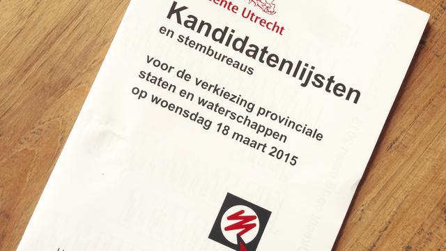 Grootste partij in provincie Utrecht pas na het weekend bekend