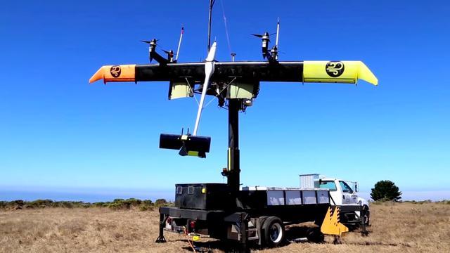 Google test vliegende windturbines op 450 meter hoogte
