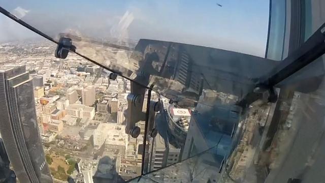 Glijbaan op 300 meter hoogte in VS opent officieus