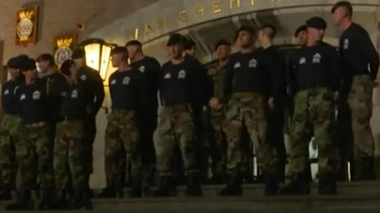 Mariniers leggen speedmars af voor Serious Request