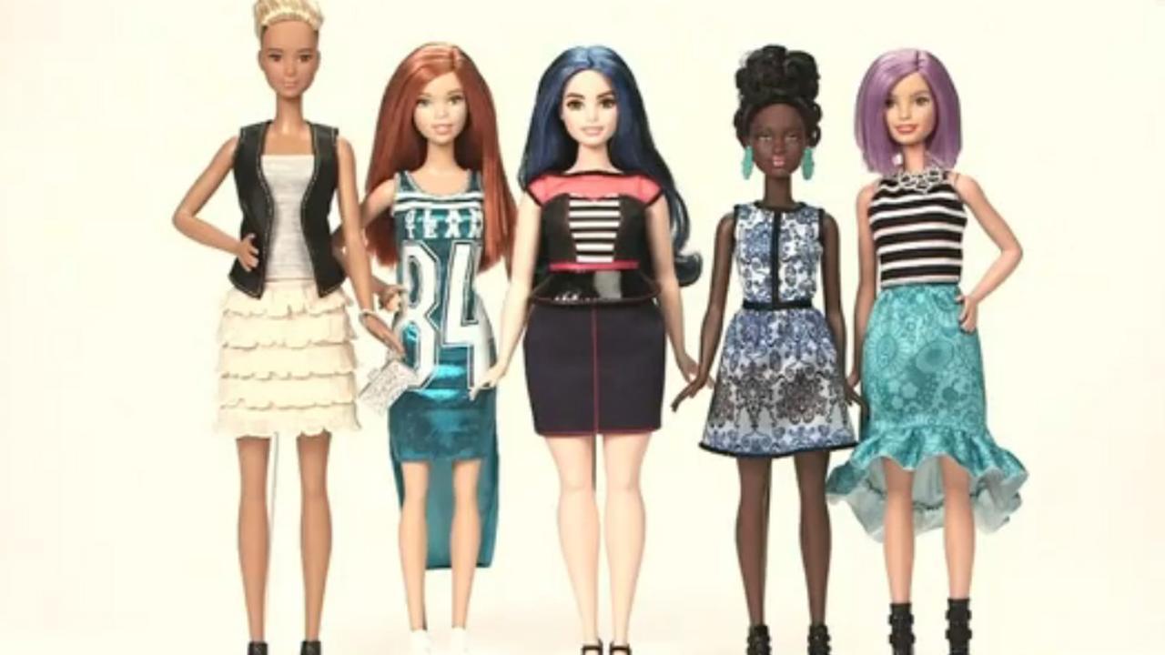 Barbie-pop krijgt verschillende lichaamstypen