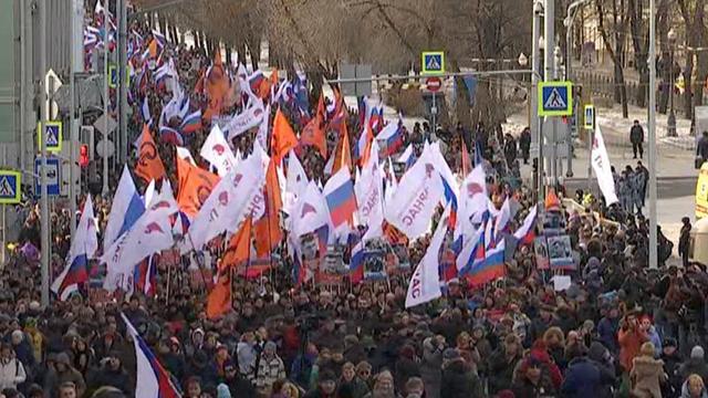 Russen lopen uit voor herdenking doodgeschoten oppositieleider