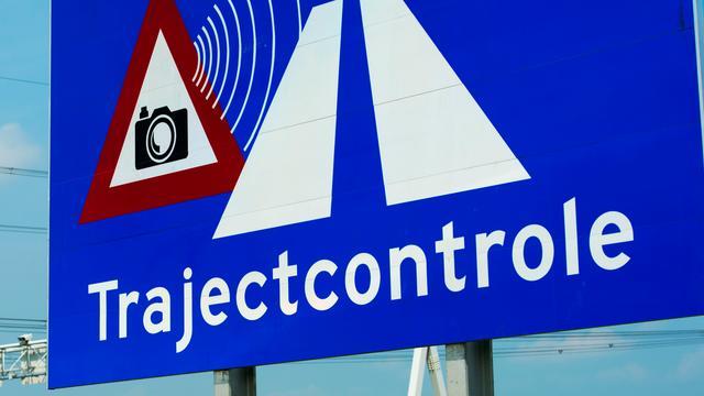 Trajectcontrole A20 bij Rotterdam in beide richtingen aan