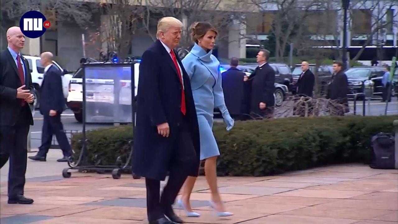 Trump en Pence bezoeken kerkdienst voor inauguratie