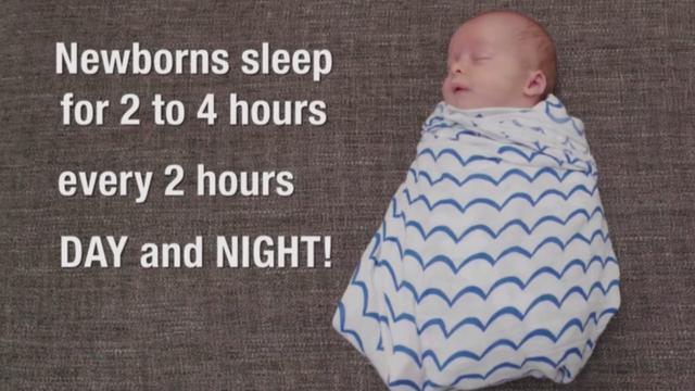 Slaaptips voor je pasgeboren baby
