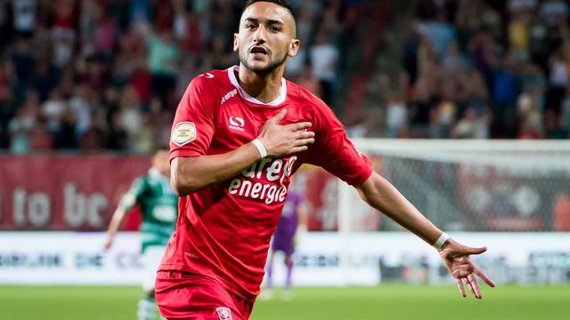 Ziyech leidt FC Twente met twee doelpunten langs Sparta