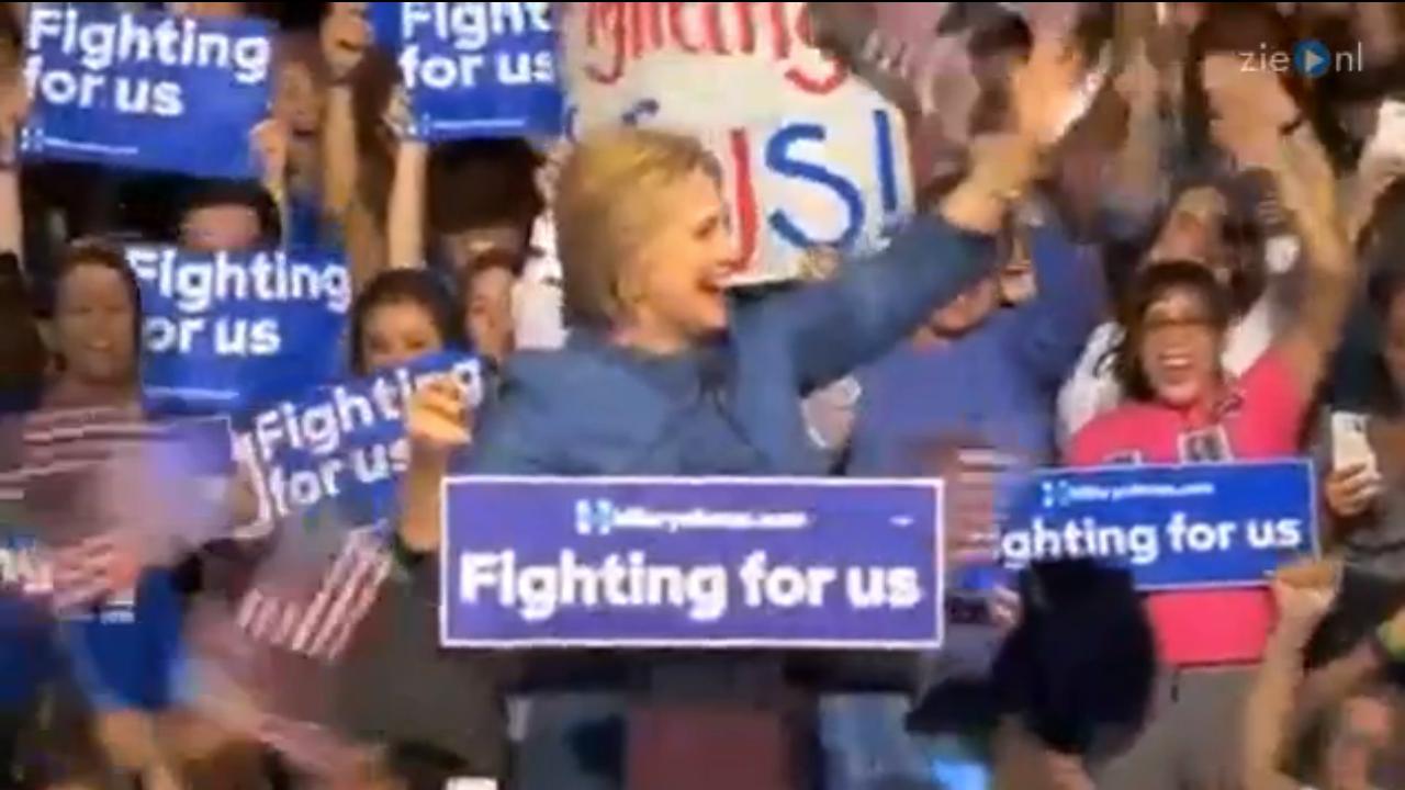 Hillary Clinton bedankt staten voor overwinning