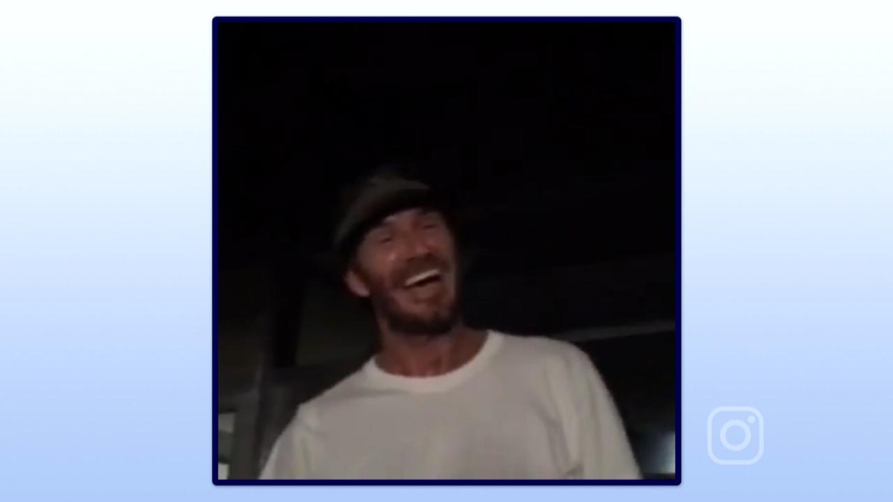 David Beckham verrast tijdens Stones concert