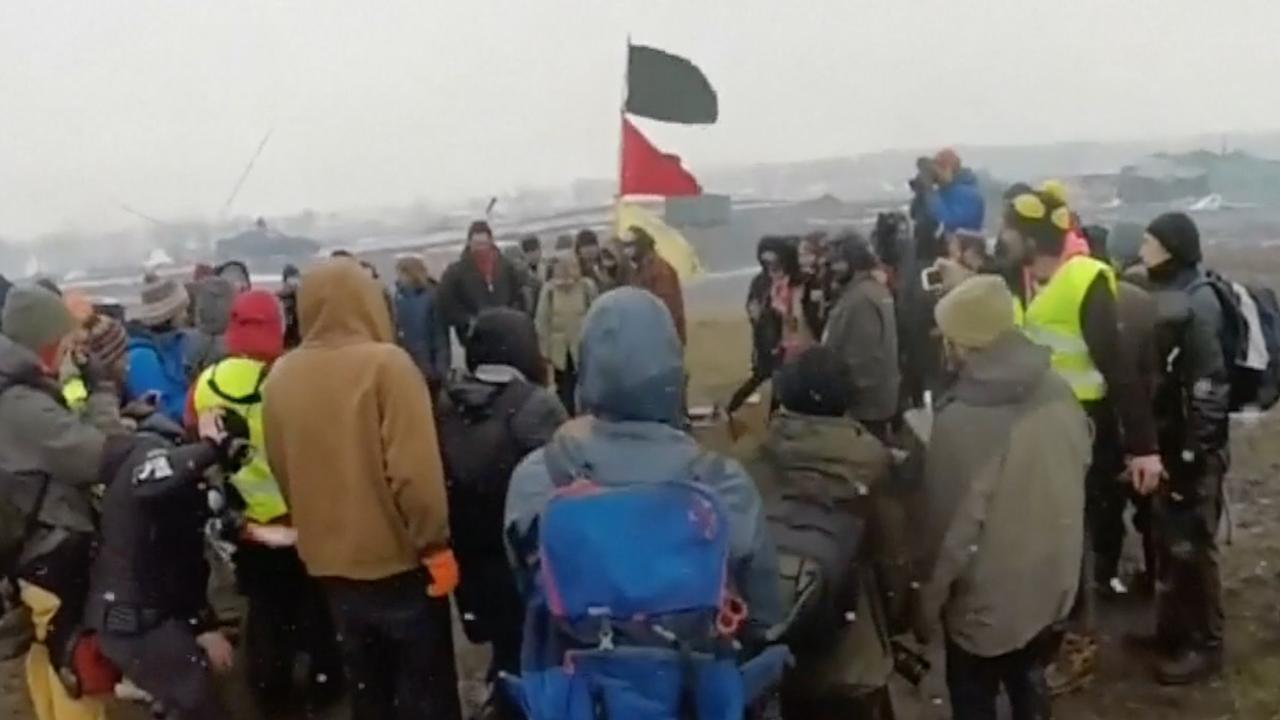 Nog tientallen mensen in protestkamp oliepijpleiding North Dakota