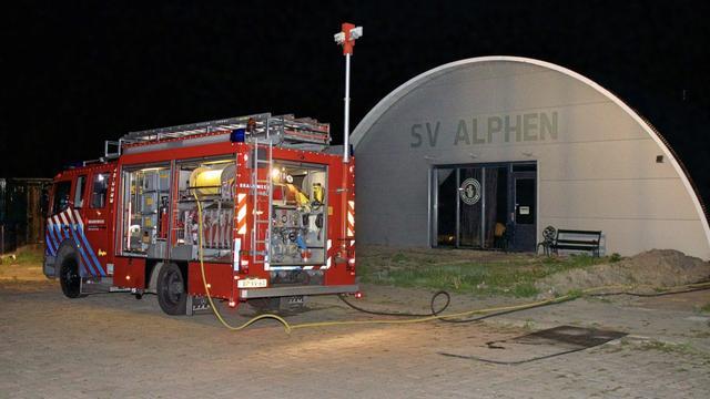 Politie doet onderzoek naar brand bij schietvereniging Alphen aan den Rijn
