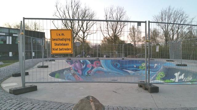Tuin van Noord morgen open zonder skatepark