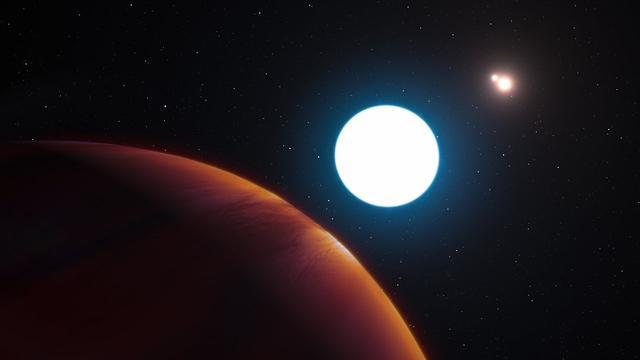 Planeet ontdekt met drie zonnen aan de hemel