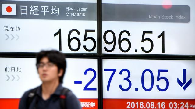 Sterkere yen drukt beurs Tokio flink omlaag