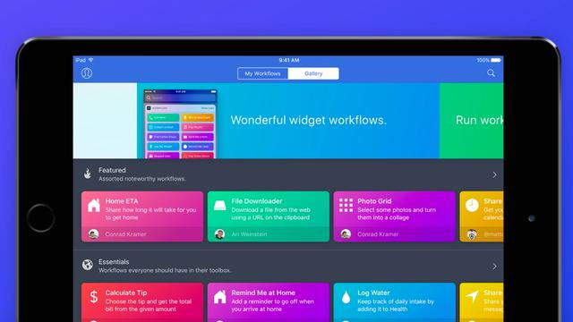 Apple koopt slimme taken-app Workflow