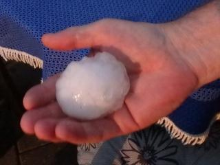 "'Hail Cost ""not known by damaged cars and houses"